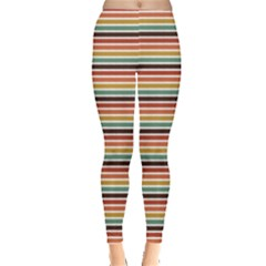 Colorful Horizontal Stripes Pattern Leggings by CoolDesigns