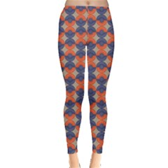 Colorful Pattern Orange And Blue Hemispheres Leggings by CoolDesigns