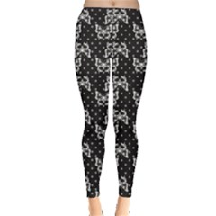 Black Pattern Butterflies Leggings