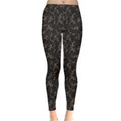 Black Camouflage Pattern Leggings by CoolDesigns