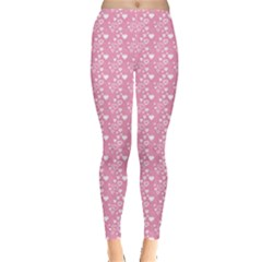 Pink Pattern Hearts Leggings by CoolDesigns
