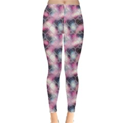 Colorful Pattern Hearts Pattern On Pink Blur Leggings