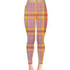 Colorful Madras Plaid Pattern Leggings by CoolDesigns