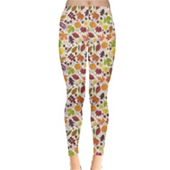 Colorful Pattern From Autumn Leaves Leggings by CoolDesigns