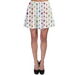 Colorful Pattern Christmas Decorations Skater Skirt by CoolDesigns
