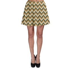 Colorful Braid Chevron Pattern Skater Skirt by CoolDesigns