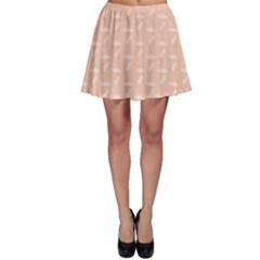 Nude Gentle Pattern Whith Swans Skater Skirt by CoolDesigns