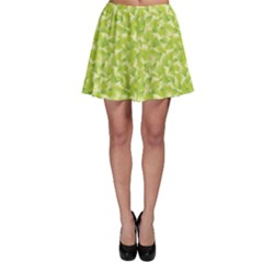 Green A Spring Leaves Pattern Skater Skirt by CoolDesigns