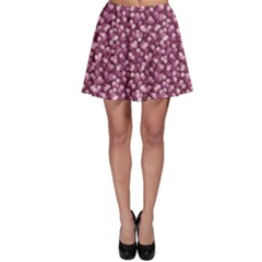 Pink Pink Sequins Pattern Black Glow And Sparks Skater Skirt