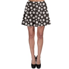 Gray Cat Pattern Skater Skirt by CoolDesigns