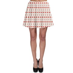 Red Pattern Hearts Skater Skirt by CoolDesigns