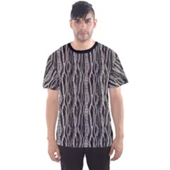 Black Ethnic Ornament Abstract Geometric Fabric Pattern Men s Sport Mesh Tee by CoolDesigns