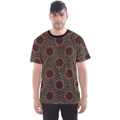 Colorful Flower Pattern Texture Men s Sport Mesh Tee by CoolDesigns