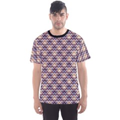 Colorful Geometric Violet Chevron Pattern Pattern Men s Sport Mesh Tee by CoolDesigns