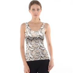 Gray Bright Graphic Floral Pattern Tank Top by CoolDesigns