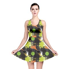 Dark Pattern Will Tile Endlessly Vinyl Record Pattern Reversible Skater Dress by CoolDesigns