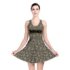 Green Camouflage Pattern Reversible Skater Dress by CoolDesigns