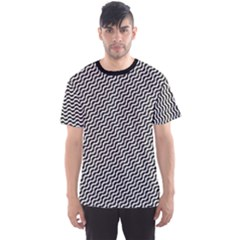 Black Pattern Black And White Men s Sport Mesh Tee by CoolDesigns