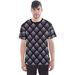 Black Abstract Geometric Pattern Men s Sport Mesh Tee by CoolDesigns