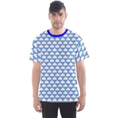 Blue Cute Cloud Pattern Men s Sport Mesh Tee by CoolDesigns
