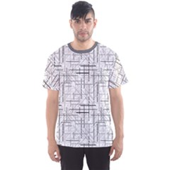 Gray Abstract Geometric Pattern Men s Sport Mesh Tee by CoolDesigns