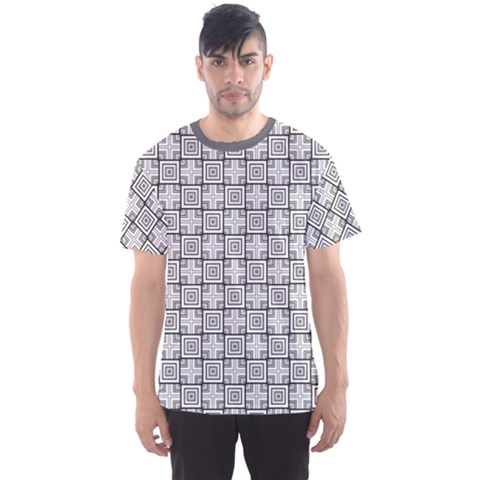 Gray Geometric Pattern Men s Sport Mesh Tee by CoolDesigns