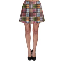 Colorful Set Of Checkered Pattern Skater Skirt by CoolDesigns