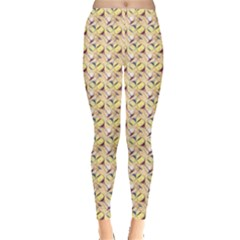 Colorful Pattern With Wine Glass Leggings by CoolDesigns