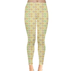 Yellow Cock Chicken Pattern Leggings by CoolDesigns
