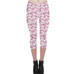Pink Bunny Pattern Capri Leggings by CoolDesigns