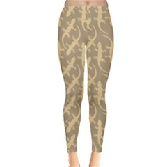 Brown Gecko Leggings
