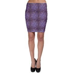 Blue Pattern With Stylized Insects Bodycon Skirt by CoolDesigns