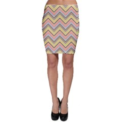 Colorful Chevron Scales Pattern Scallop Bodycon Skirt by CoolDesigns