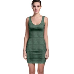 Green Pattern Of The Printed Circuit Board Bodycon Dress by CoolDesigns