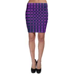 Purple Blue Geometric Pattern Bodycon Skirt by CoolDesigns