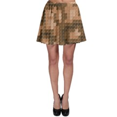 Brown Gold Lizard Skin Squama Pattern Skater Dress by CoolDesigns