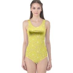 Green Lemon Slice Women s One Piece Swimsuit