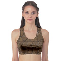 Brown Of Brown Stone Pattern Women s Sport Bra