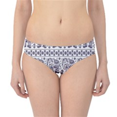 Purple Ethnic Vintage Elephant Business Hipster Bikini Bottom