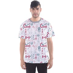 Colorful Fun Colorful Sketch Canada Pattern Men s Sport Mesh Tee by CoolDesigns
