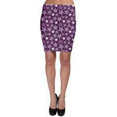 Purple Stars And Stripes Pattern Bodycon Skirt by CoolDesigns
