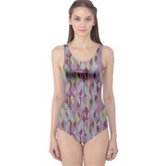 Purple Retro Pattern Stylish Design Women s One Piece Swimsuit by CoolDesigns