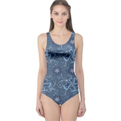 Blue Blue Hawaii Stylish Pattern Women s One Piece Swimsuit by CoolDesigns
