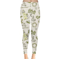 Green Sea Pattern Stylish Design Leggings by CoolDesigns