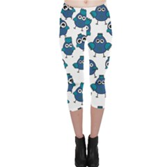 Blue Chicken Pattern Stylish Design Capri Leggings by CoolDesigns