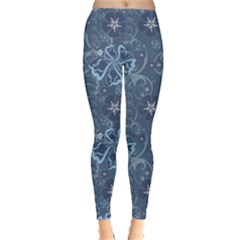 Blue Blue Hawaii Stylish Pattern Leggings by CoolDesigns