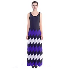 Purple Chevron Sleeveless Maxi Dress by CoolDesigns