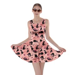 Pink Cats In Action Pattern Skater Dress by CoolDesigns