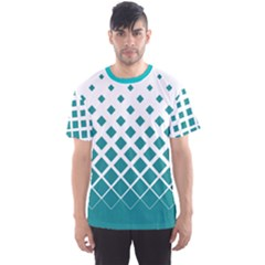 Mint Gradient Rhombuses Men s Sport Mesh Tee by CoolDesigns