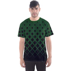Dark Green Gradient Rhombuses Men s Sport Mesh Tee by CoolDesigns